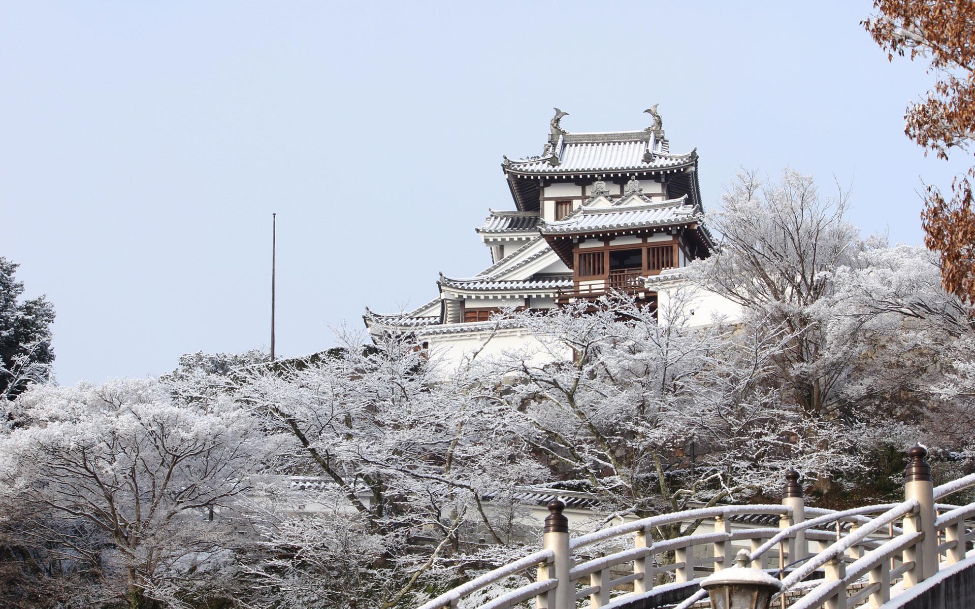 冬の福知山城